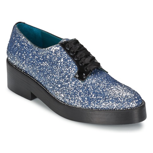Sonia Rykiel 676318 Blau / Silbern Schuhe Derby-Schuhe Damen 219,60