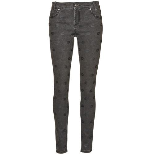 Kleidung Damen Slim Fit Jeans American Retro HELENA Grau