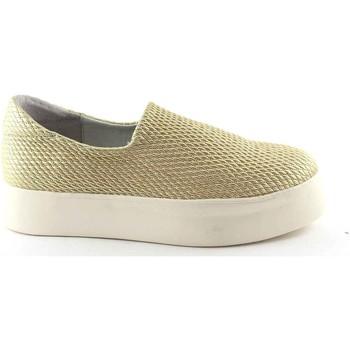 Schuhe Damen Slip on Frau 37Y0 Gold Schuhe Frauen Slip-On Sneakers Strecke Plateaus Beige