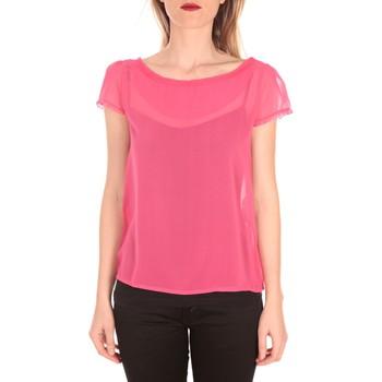 Kleidung Damen T-Shirts Aggabarti t-shirt voile 121072 fushia Rose