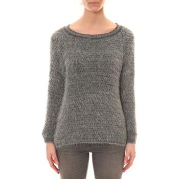 Kleidung Damen Pullover De Fil En Aiguille Pull Effet Noix Coco Anthracite Grau