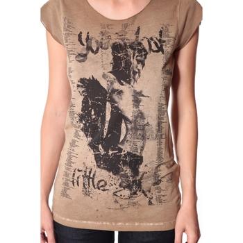 Kleidung Damen T-Shirts Rich & Royal Tee-shirt Little 13q430 Camel Braun