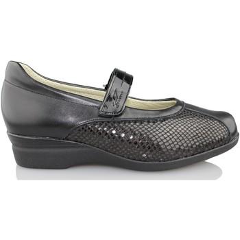 Schuhe Damen Ballerinas Dtorres D TORRES Tänzer für breite Füße SCHWARZ