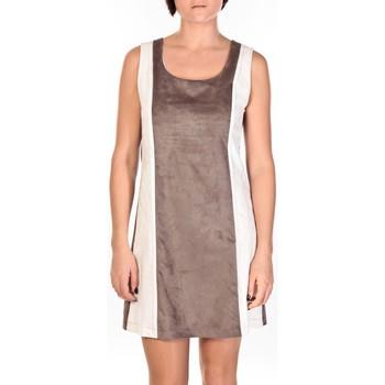 Kleidung Damen Kurze Kleider Dress Code Robe Venetie blanc/marron Braun