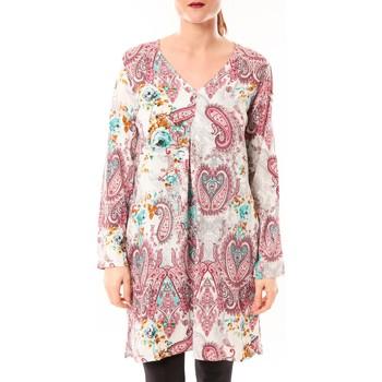 Kleidung Damen Tuniken Dress Code Robe Moda H G-0080-3 Blanc/Rose Rose