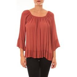 Kleidung Damen Tops / Blusen By La Vitrine Blouse Giulia brique Orange