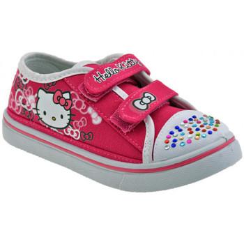 Schuhe Kinder Sneaker Low Hello Kitty Klett Strass Mädchen turnschuhe