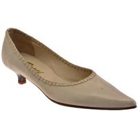 Schuhe Damen Pumps Bocci 1926 Spool Heel 30 plateauschuhe Beige