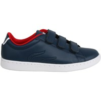 Schuhe Kinder Sneaker Low Lacoste 31SPI0002 CARNABY EVO 144 NVY-RED Azul