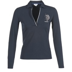 Kleidung Damen Langärmelige Polohemden U.S Polo Assn. CRISTINE Marine