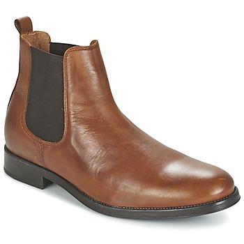 Schuhe Herren Boots Selected SHDOLIVER CHELSEA BOOT NOOS Cognac