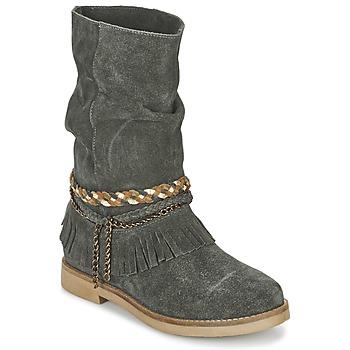 Schuhe Damen Klassische Stiefel Coolway BIARA Grau