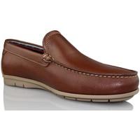 Schuhe Herren Slipper CallagHan FREE PFERD Faulenzer BRAUN