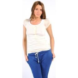 Kleidung Damen T-Shirts American Vintage TEE-SHIRT MAS05BIS NATUREL Weiss