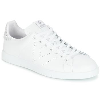 Schuhe Damen Sneaker Low Victoria DEPORTIVO BASKET PIEL Weiss / Silbern