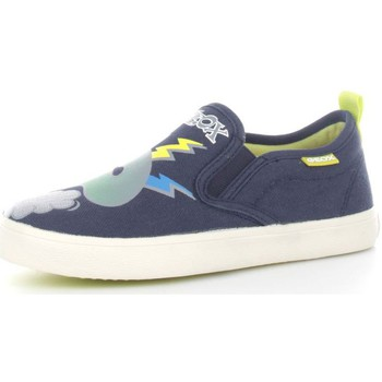 Schuhe Kinder Slipper Geox J62A7D0010 Halbschuhe Baby Navy/Multicolor Navy/Multicolor