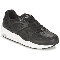 Schuhe Herren Sneaker Low Puma R698 CORE LEATHER Schwarz