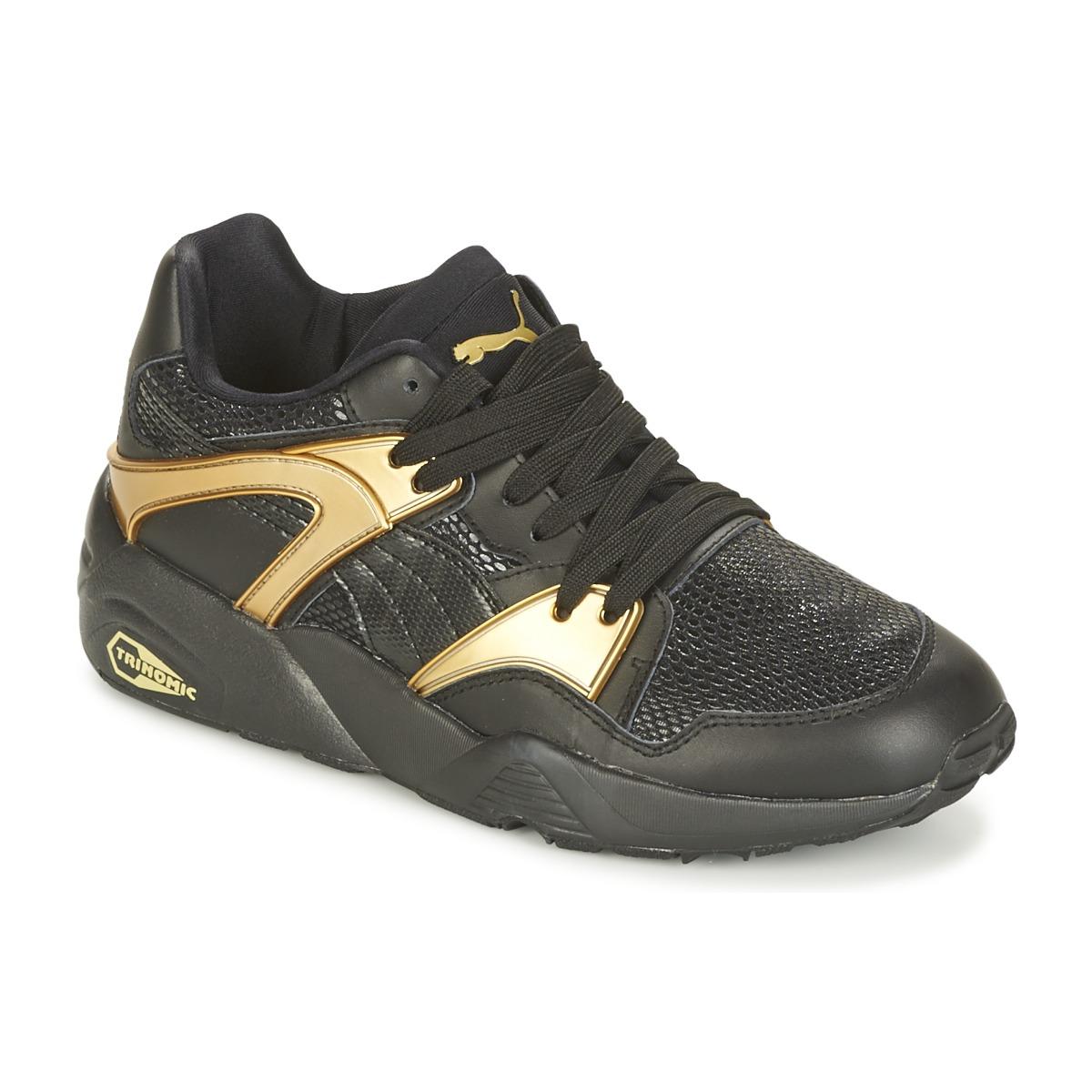 Puma BLAZE GOLD WN'S Schwarz / Gold - Kostenloser Versand bei Spartoode ! - Schuhe Sneaker Low Damen 87,20 €