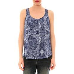Kleidung Damen Tops Little Marcel Litlle Marcel Trevor Bleu Marine imprimé Blau