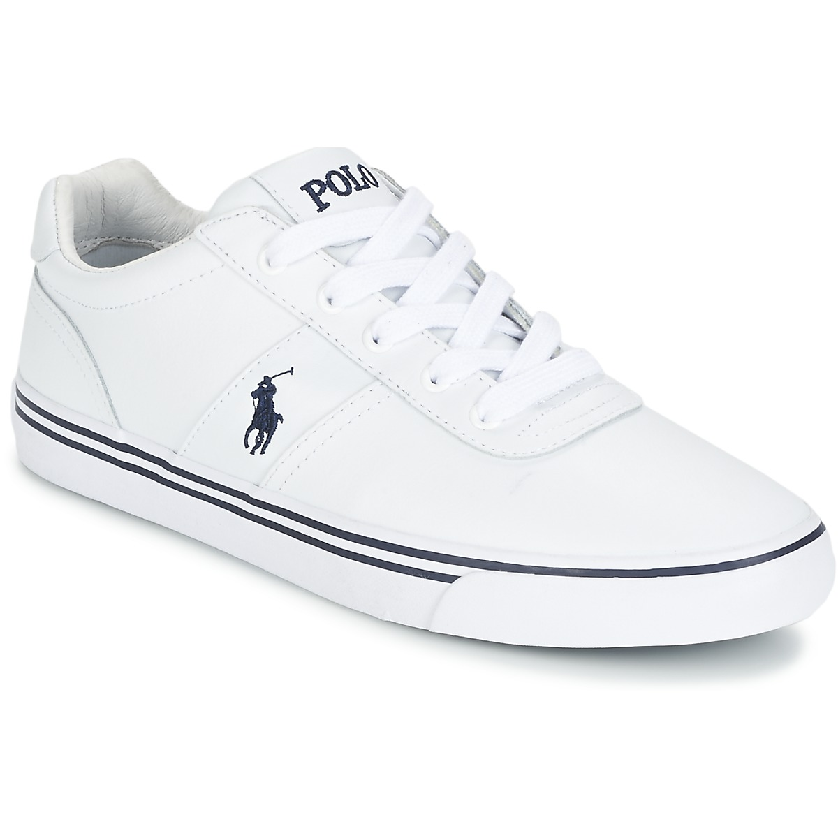 Polo Ralph Lauren HANFORD Weiss - Kostenloser Versand bei Spartoode ! - Schuhe Sneaker Low Herren 79,19 €