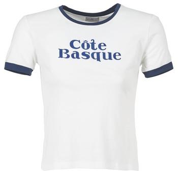 Kleidung Damen T-Shirts Loreak Mendian COTE BASQUE Naturfarben / Marine