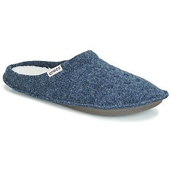 Schuhe Hausschuhe Crocs CLASSIC SLIPPER Marine / Rot