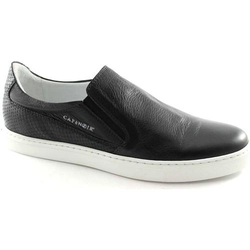 Café Noir CAF NOIR PG122 schwarzer Mann Slip auf Schuhturnschuhe elastisch Nero