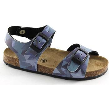 Schuhe Jungen Sandalen / Sandaletten Grunland GRÜNLAND AFRE SB0412 20/28 blaue Sterne Baby Birk Schnallen Blu