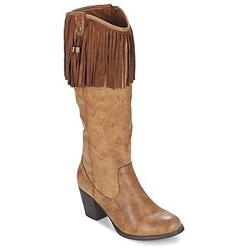Schuhe Damen Klassische Stiefel Refresh TRITOU Camel