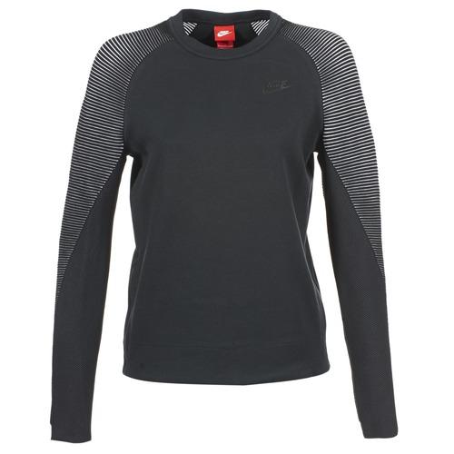 Kleidung Damen Sweatshirts Nike TECH FLEECE CREW Schwarz