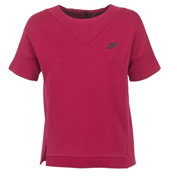Kleidung Damen Sweatshirts Nike TECH FLEECE CREW Bordeaux