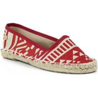 Schuhe Mädchen Leinen-Pantoletten mit gefloch Xti 52919 Rojo