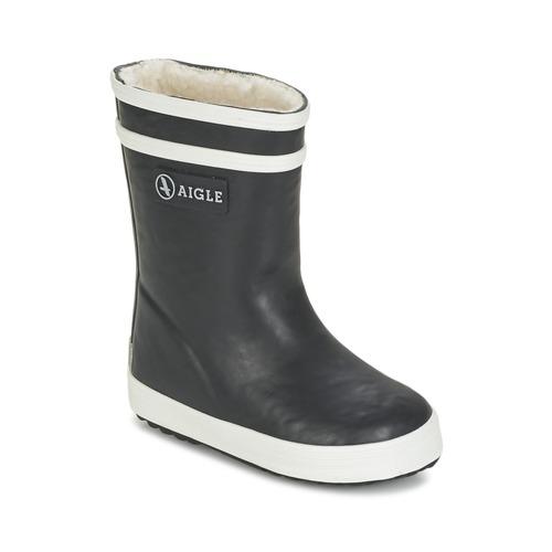 Schuhe Kinder Gummistiefel Aigle BABY FLAC FUR Marine