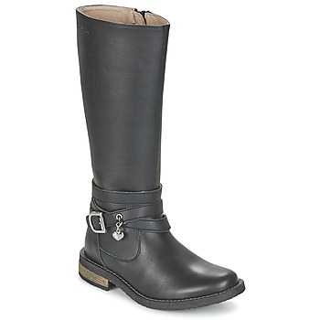 Schuhe Mädchen Klassische Stiefel Garvalin IRATIA Schwarz