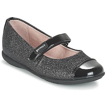 Schuhe Mädchen Ballerinas Garvalin JALINA Schwarz