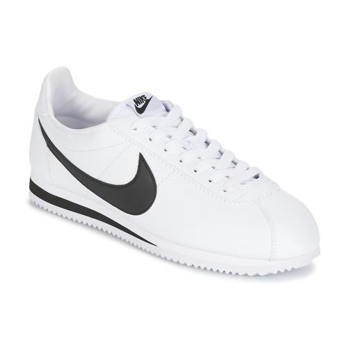 Schuhe Herren Sneaker Low Nike CLASSIC CORTEZ LEATHER Weiss / Schwarz