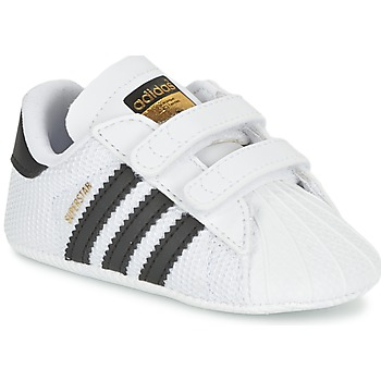 Schuhe Kinder Sneaker Low adidas Originals SUPERSTAR CRIB Weiss