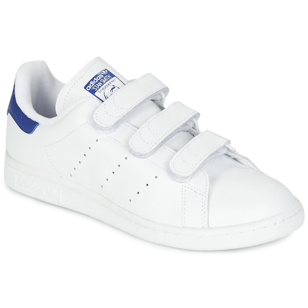adidas Originals STAN SMITH CF Weiss / Blau - Kostenloser Versand bei Spartoode ! - Schuhe Sneaker Low  76,00 €