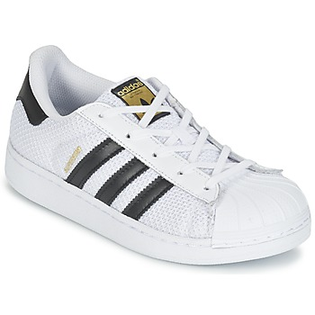 Schuhe Kinder Sneaker Low adidas Originals SUPERSTAR EL C Weiss