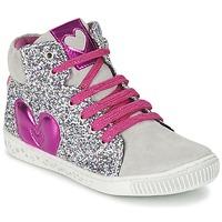 Schuhe Mädchen Sneaker High Agatha Ruiz de la Prada BUSOULI Silbern