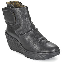 Schuhe Damen Low Boots Fly London YEGI Schwarz
