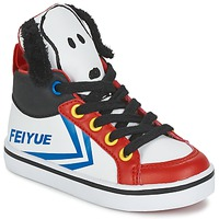 Schuhe Kinder Sneaker High Feiyue DELTA MID PEANUTS Weiss / Schwarz / Rot