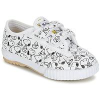 Schuhe Kinder Sneaker Low Feiyue FE LO SNOOPY EC Weiss