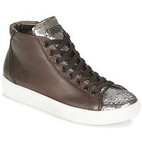Schuhe Damen Sneaker High Tosca Blu ALEXA Braun / Silbern