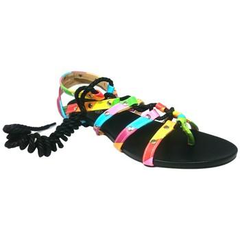 Schuhe Damen Sandalen / Sandaletten Cassis Côte d'Azur Spartiates Brides Multicolor Barbie Noir Schwarz