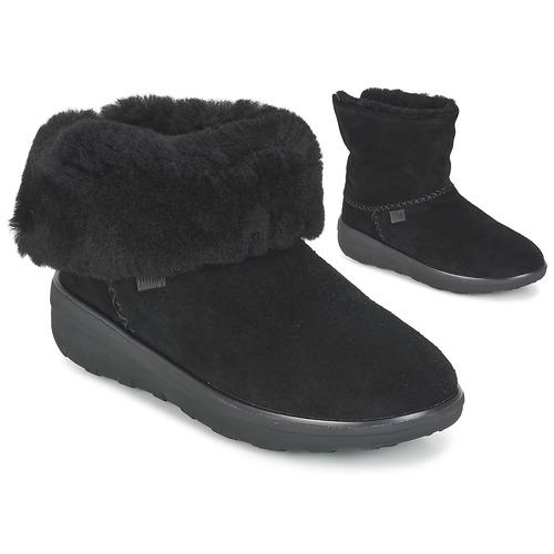 FitFlop MUKLUK SHORTY 2 BOOTS Schwarz Schuhe Schuhe Schwarz Boots Damen 159 3f5b33