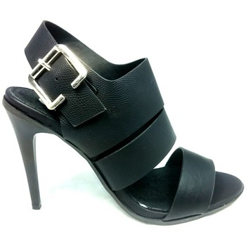 Schuhe Damen Sandalen / Sandaletten Cassis Côte d'Azur Sandales Talons Hauts Beltaine Noir Schwarz