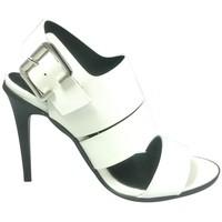 Schuhe Damen Sandalen / Sandaletten Cassis Côte d'Azur Sandales Talons Hauts Beltaine Blanc Weiss