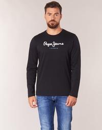 Kleidung Herren Langarmshirts Pepe jeans EGGO LONG Schwarz