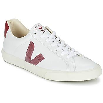 Schuhe Sneaker Low Veja ESPLAR Weiss / Rot